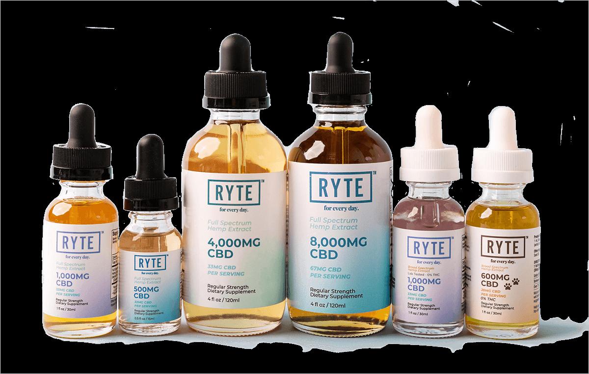 RYTE CBD products