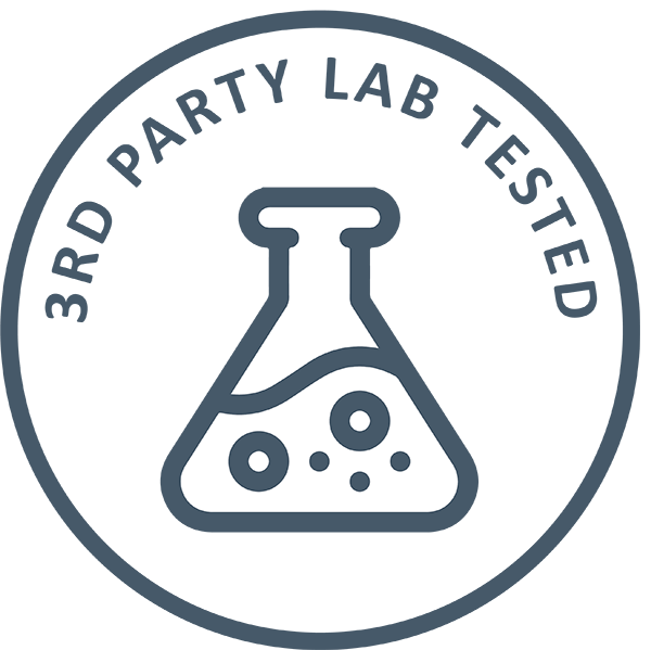 3rd party lab tested badge