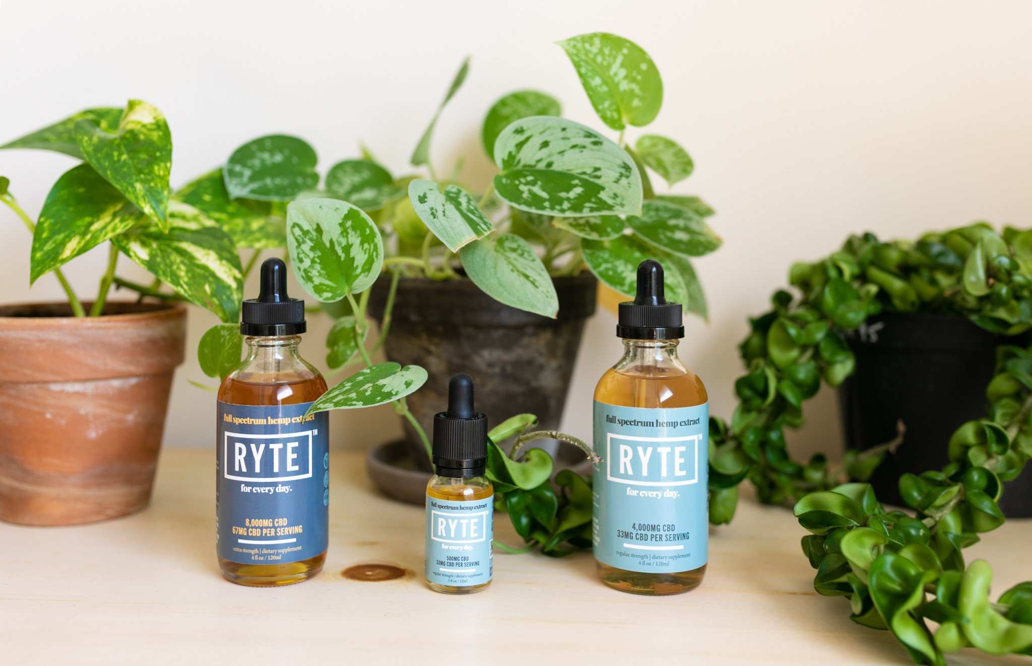 Ryte Oil with Plants